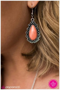 Living Like Royalty - Orange - Paparazzi earrings