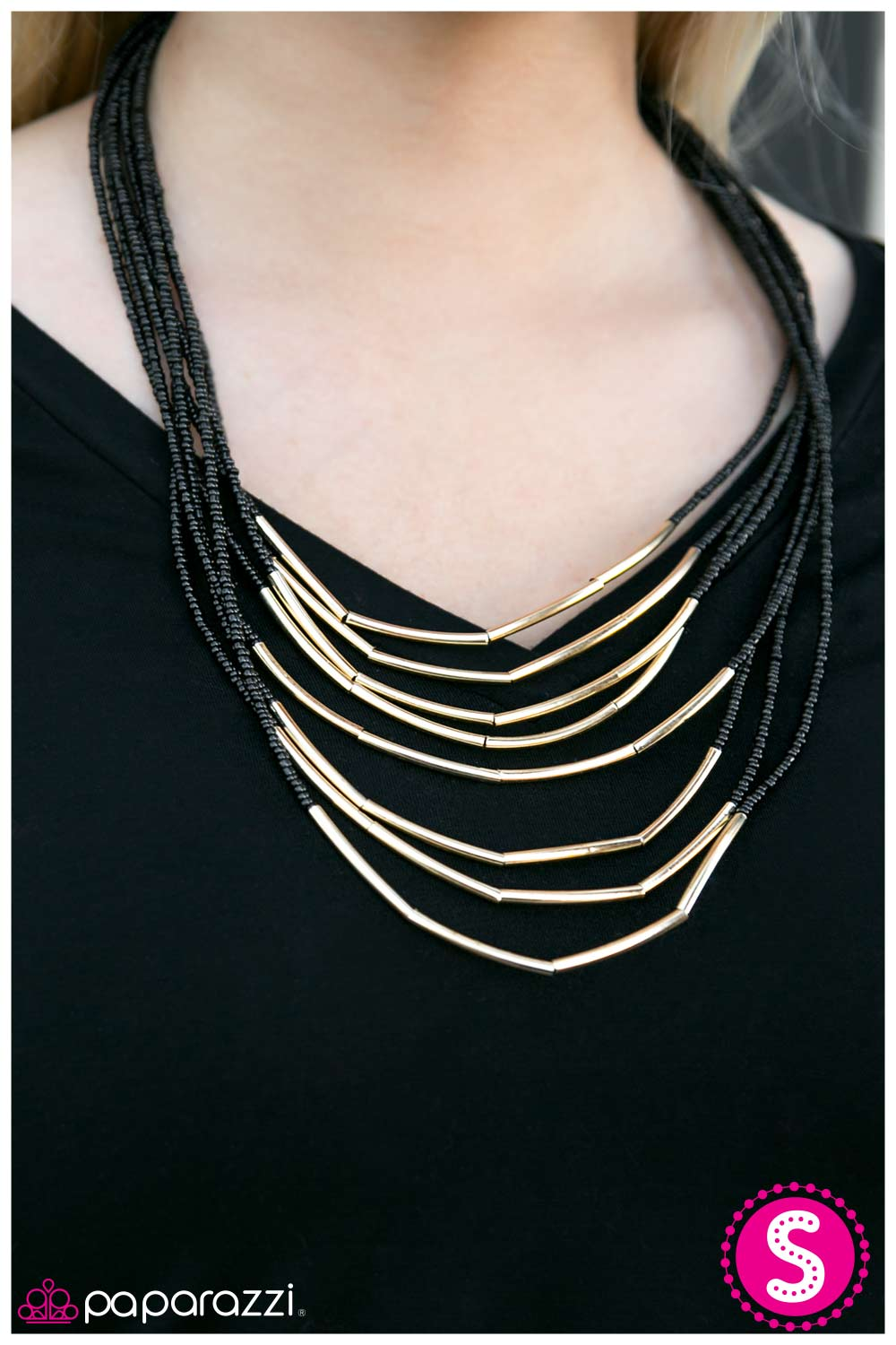 Living The GLEAM - Black - Paparazzi necklace