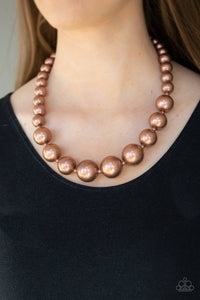 Living Up to Reputation-copper-Paparazzi necklace
