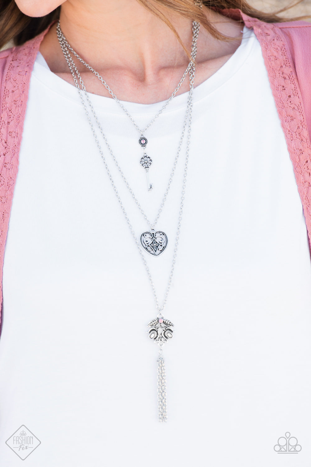 Love Opens All Doors - pink - Paparazzi necklace