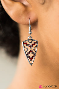 Love Your Tribe - Red - Paparazzi earrings