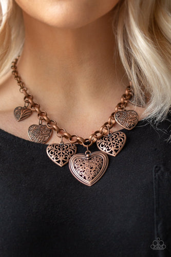 Love Lockets-copper-Paparazzi necklace