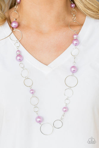 Lovely Lady Luck - purple - Paparazzi necklace