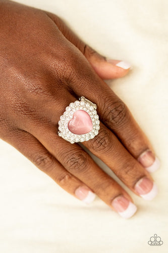 Lovely Luster-pink-Paparazzi ring