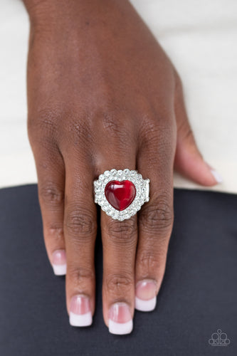 Lovely Luster - red - Paparazzi ring