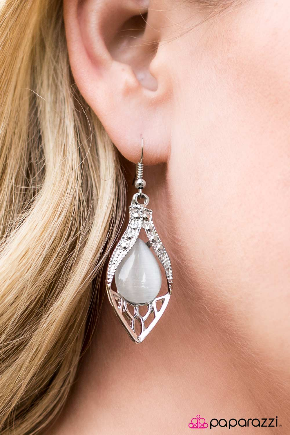 Loyal Royal - White - Paparazzi earrings