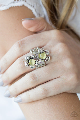 Magnolia Mansions - yellow - Paparazzi ring