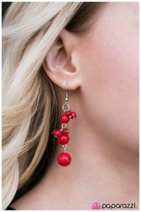 Maid of Honor - Red - Paparazzi earrings