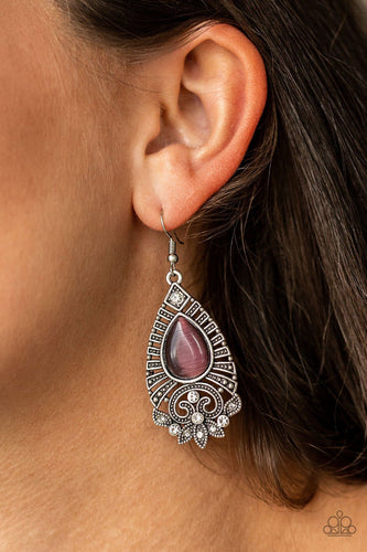 Majestically Malibu-purple-Paparazzi earrings