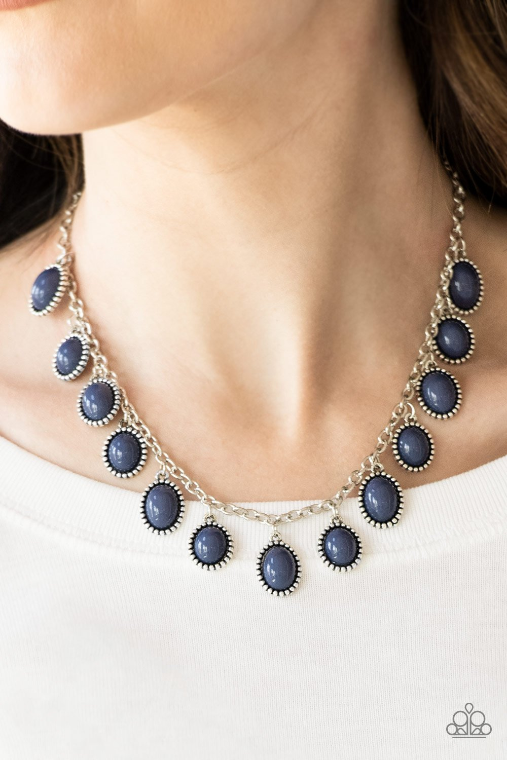 Make Some Roam-blue-Paparazzi necklace