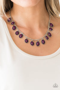 Make Some Roam-purple-Paparazzi necklace