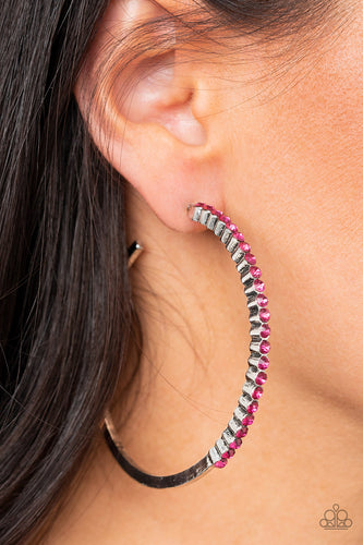 Making Rounds - pink - Paparazzi earrings