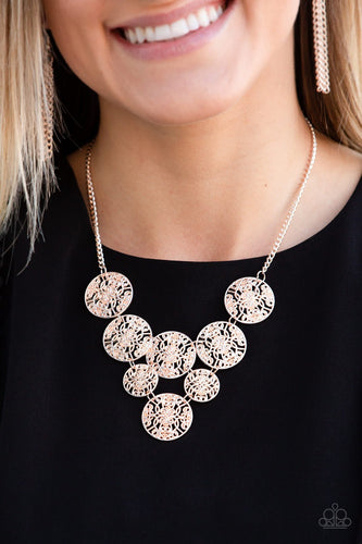 Malibu Idol-rose gold-Paparazzi necklace