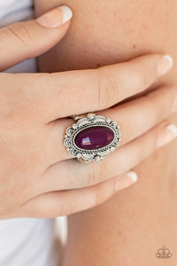 Maliu Majestic - purple - Paparazzi ring