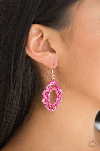 Mantras and Mandalas - pink - Paparazzi earrings