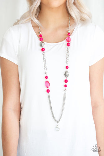 Marina Majesty - pink - Paparazzi LANYARD necklace