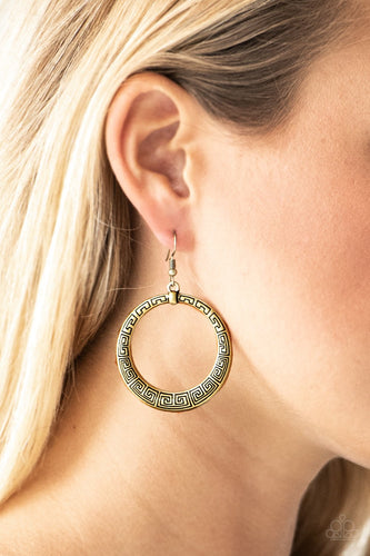 Mayan Mantra-brass-Paparazzi earrings
