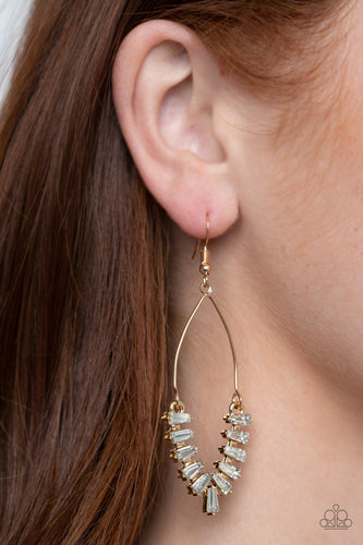 Me, Myself, and ICE - gold - Paparazzi earrings