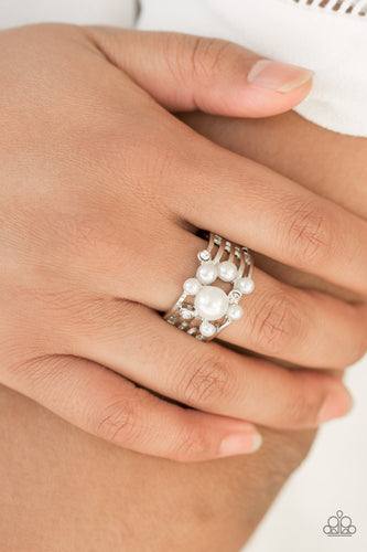 Meet Me at the Alter - white - Paparazzi ring