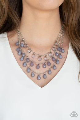 Melting Ice Caps - silver - Paparazzi necklace