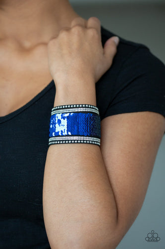 Mermaids Have More Fun-blue-Paparazzi bracelet