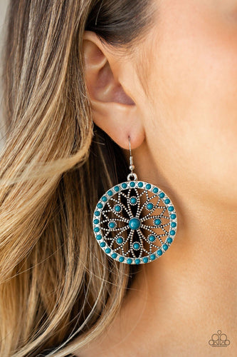 Merry Mandalas - blue - Paparazzi earrings