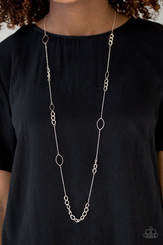 Metro Minimalist-rose gold-Paparazzi necklace