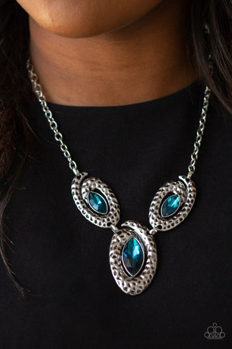 Metro Mystique-blue-Paparazzi necklace