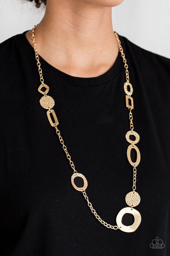 Metro Scene - gold - Paparazzi necklace