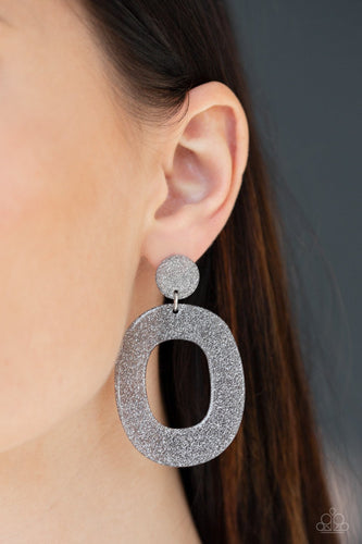 Miami Boulevard - silver - Paparazzi earrings