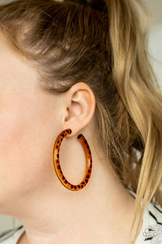 Miami Minimalist-brown-Paparazzi earrings