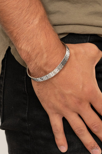 Mind Games - silver - Paparazzi mens bracelet
