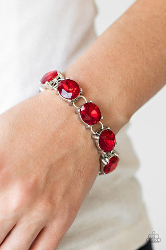 Mind Your Manners-red-Paparazzi bracelet