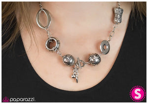 Mixed Tape - Silver - Paparazzi necklace