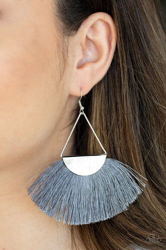 Modern Mayan-silver-Paparazzi earrings