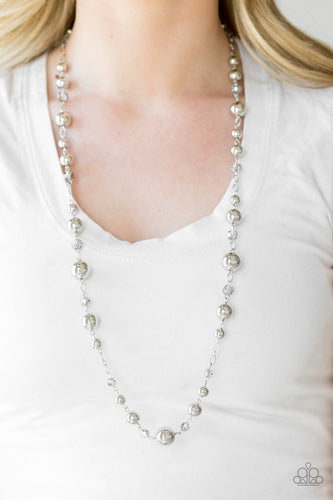 Modernly Magestic - silver - Paparazzi necklace
