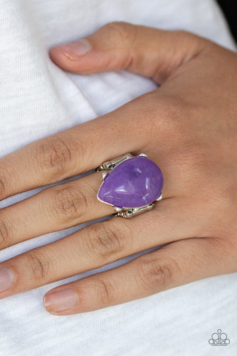 Mojave Minerals-purple-Paparazzi ring