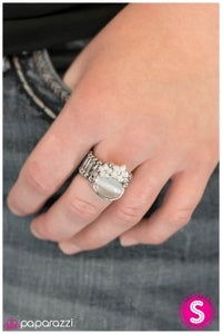 Mooning Over You - White - Paparazzi ring