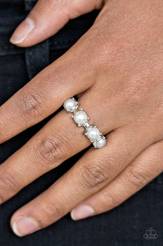 More or Priceless - white - Paparazzi ring