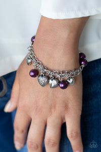 More Amour-purple-Paparazzi bracelet