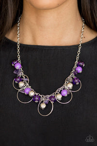 Mountain Mosaic - purple - Paparazzi necklace