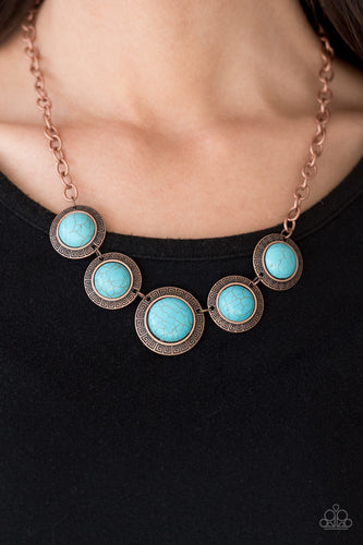 Mountain Roamer - copper - Paparazzi necklace