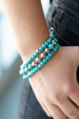 Mountain Artist-blue-Paparazzi bracelet