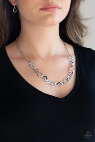 Move It On Over-silver-Paparazzi necklace