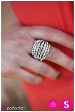 Load image into Gallery viewer, Blinding Brilliance - white - Paparazzi ring
