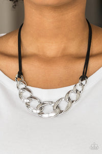 Naturally Nautical - black - Paparazzi necklace
