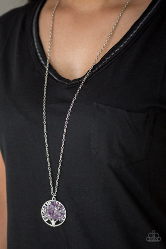 Naturally Nirvana-purple-Paparazzi necklace