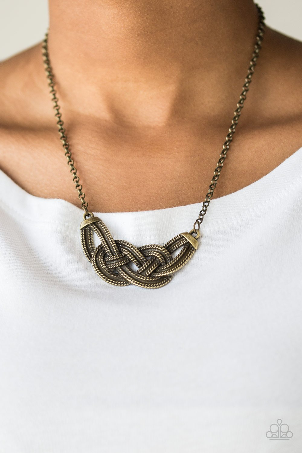 Nautically Naples - brass - Paparazzi necklace