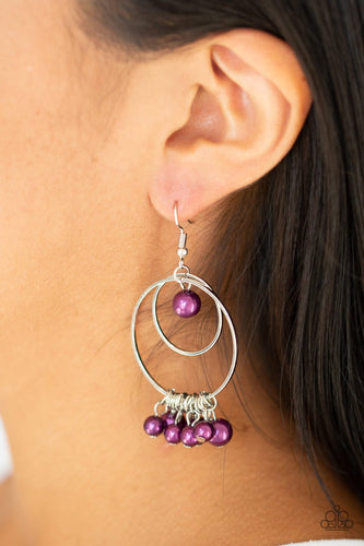 New York Attraction-purple-Paparazzi earrings