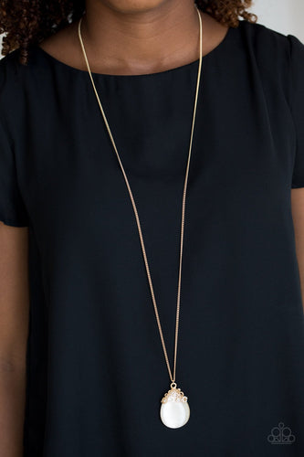 Nightcap and Gown - gold - Paparazzi necklace